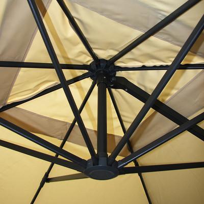 Gastronomie-Luxus-Ampelschirm Sonnenschirm N22 Aluminium, 4,3 m ~ creme ohne Ständer – Bild 6
