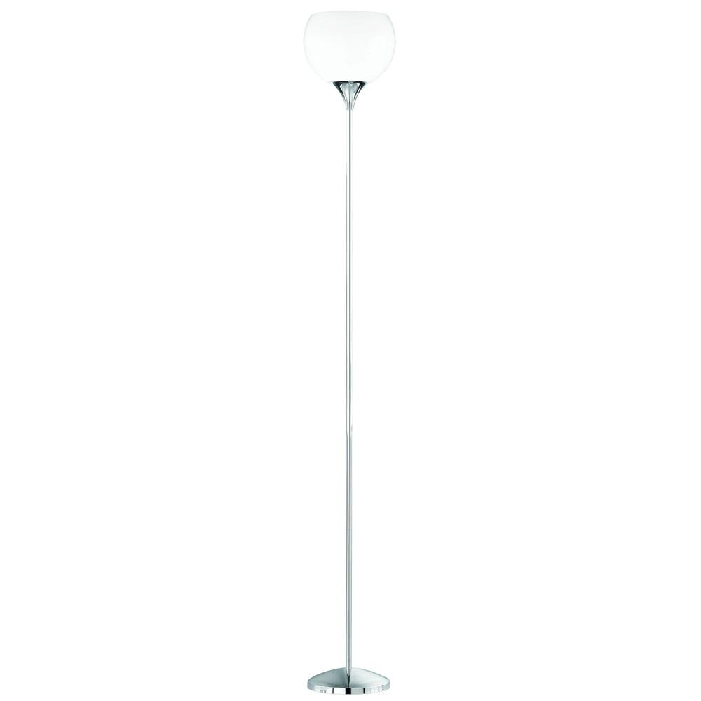 Reality Trio Deckenfluter Stehlampe in chrom, Acrylschirm weiss