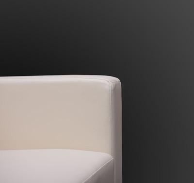 3er Sofa Couch Loungesofa Lille ~ Leder, schwarz – Bild 5