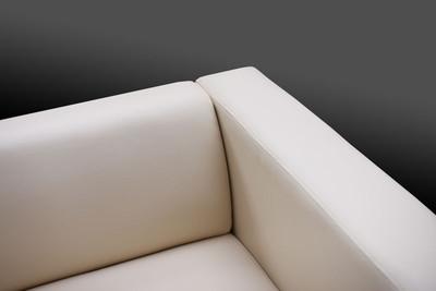 2er Sofa Couch Loungesofa Lille ~ Leder, rot – Bild 5