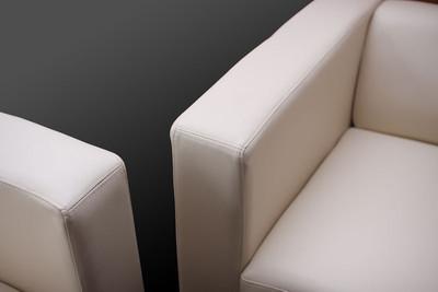 3er Sofa Couch Loungesofa Lille ~ Kunstleder, weiss – Bild 9