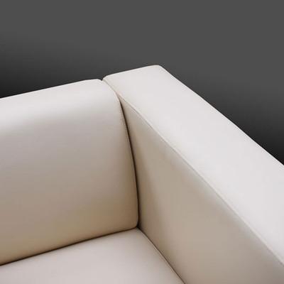 3er Sofa Couch Loungesofa Lille ~ Kunstleder, schwarz – Bild 5