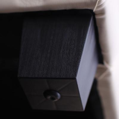 3er Sofa Couch Loungesofa Lille ~ Kunstleder, schwarz – Bild 3