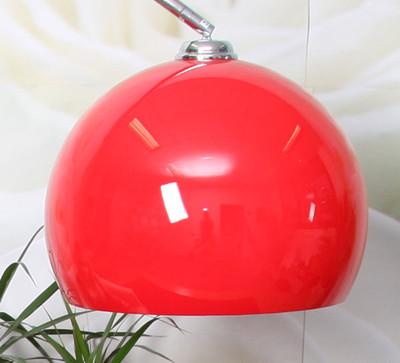 Schirm für Bogen- und Pendelleuchte LOUNGE DEAL II, Ø 40cm, Kunststoff ~ rot – Bild 2