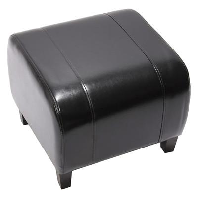 Hocker Sitzwürfel Sitzhocker Emmen, LEDER, 37x45x47 cm ~ schwarz – Bild 1