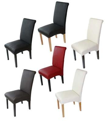6x Esszimmerstuhl Lehnstuhl Stuhl Latina, LEDER ~ braun, helle Beine – Bild 7