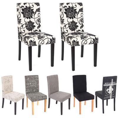 2x Esszimmerstuhl Stuhl Lehnstuhl Littau ~ Textil, grau, dunkle Beine – Bild 5