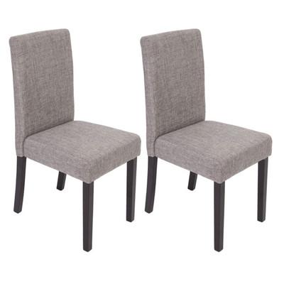 2x Esszimmerstuhl Stuhl Lehnstuhl Littau ~ Textil, grau, dunkle Beine – Bild 2