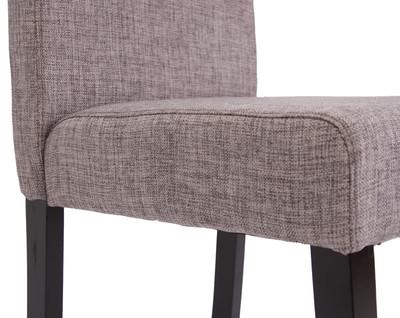 2x Esszimmerstuhl Stuhl Lehnstuhl Littau ~ Textil, grau, dunkle Beine – Bild 8