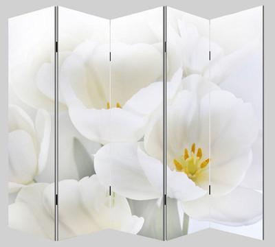 Foto-Paravent Paravent Raumteiler Trennwand M68 ~ 180x200cm, Orchidee – Bild 3