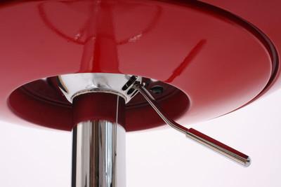 Bartisch Stehtisch Bistrotisch Mailand, höhenverstellbar Ø60cm ~ rot – Bild 3
