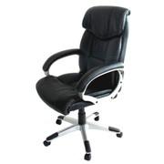 Bürostuhl Chefsessel Drehstuhl M61 Kunstleder, geeignet bis 2,00 m Körpergrösse ~ schwarz 001
