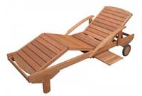 Sonnenliege aus Meranti-Holz 001