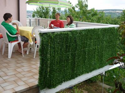 Sichtschutz Windschutz Verkleidung für Balkon Terrasse Zaun ~ Tanne breit 300 x 150 cm – Bild 7