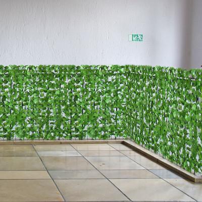 Sichtschutz Windschutz Verkleidung für Balkon Terrasse Zaun ~ Blatt hell 300 x 150 cm – Bild 4