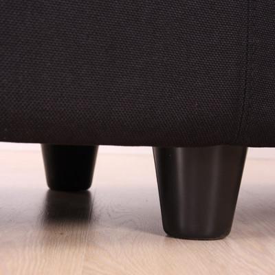 Aufbewahrungs-Truhe Sitzbank Bank Kriens Textil, 112x45x45cm ~ beige – Bild 4