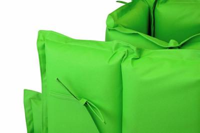 Hochwertige Auflage für Sonnenliege mit Kopfkissen grün – Bild 3