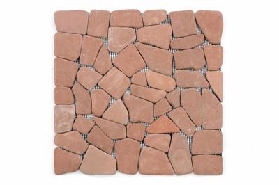DIVERO 1m² Keramik Bruchmosaik terrakotta 30 x 30 cm - 1qm – Bild 1