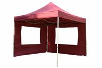 Falt Pavillon 3x3m burgund 2 Seitenteile PROFI Ausführung wasserdichtes Dach 001