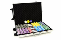 Pokerkoffer 1000 Laser Pokerchips Trolley Poker Set 001