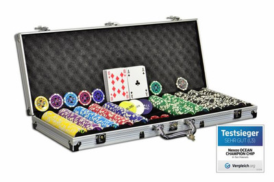 Pokerkoffer 500 Laser Pokerchips Poker Komplett Set – Bild 1
