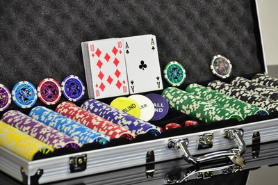 Pokerkoffer 500 Laser Pokerchips Poker Komplett Set – Bild 2