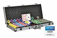 Pokerkoffer 500 Laser Pokerchips Poker Komplett Set 001