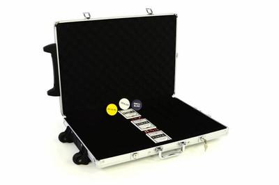 Pokerkoffer Poker Zubehör Trolley bis zu 1000 Chips leer – Bild 1