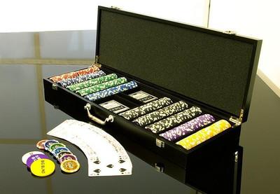 Pokerkoffer 500 Pokerchips WOODEN BLACK EDITION – Bild 5