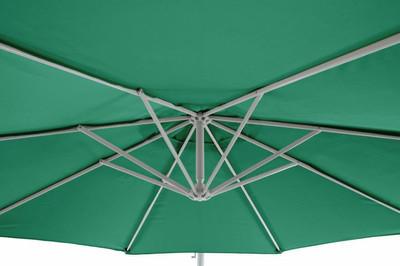 Ampelschirm 3m grün variabler Sonnenschirm – Bild 5