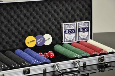 Pokerkoffer mit 500 Standard Poker Chips – Bild 2