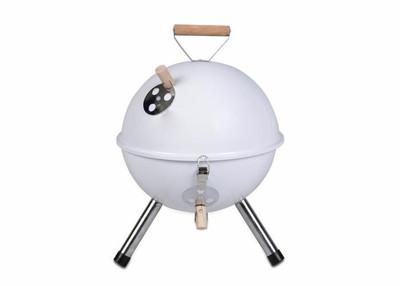 Mini BBQ-Grill Holzkohle Kugelgrill weiss – Bild 1
