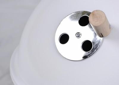 Mini BBQ-Grill Holzkohle Kugelgrill weiss – Bild 5