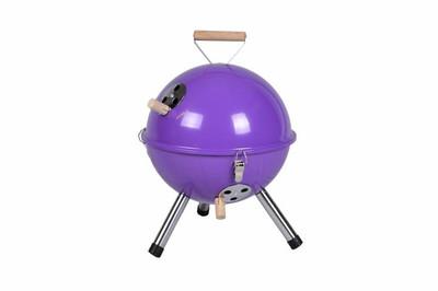 Mini BBQ-Grill Holzkohle Kugelgrill Lila