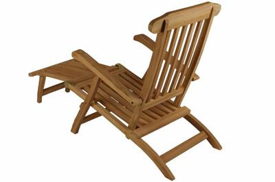 """DIVERO Deckchair """"Florentine"""" Steamer Chair mit Fussteil – Bild 2"""