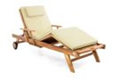 DIVERO Luxus Relaxliege aus Teakholz mehrfach verstellbar – Bild 7