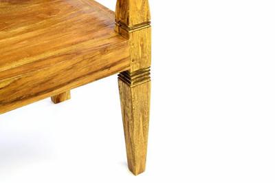 DIVERO Holzbank Teak Gartenbank 2-Sitzer Bank im Antikdesign – Bild 4