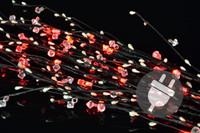 30er LED Deko Leuchte rot Zweige Innen Aussen Lichterkette Weihnachten XMAS 001