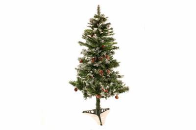 Weihnachtsbaum 120 cm mit Tannenzapfen und Schneeoptik Christbaum Weihnacht
