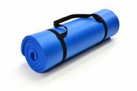 Yogamatte, Gymnastikmatte Fitnessmatte 190 x 60 x 1,5 cm blau 001