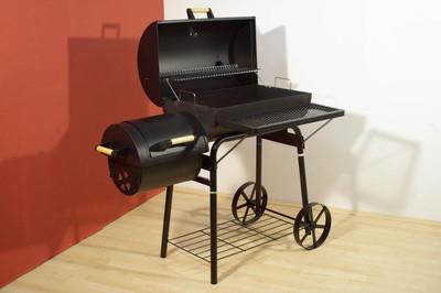 Smoker BBQ Grill Grillwagen Holzkohlegrill Kamingrill XL 32 kg – Bild 9