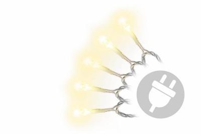 200er LED Lichterkette warm weiss Innen Aussen transparent Weihnachtsbeleuchtung