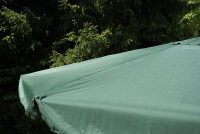 Sonnenschirm 4m grün mit Kurbel Alu Gestell – Bild 5