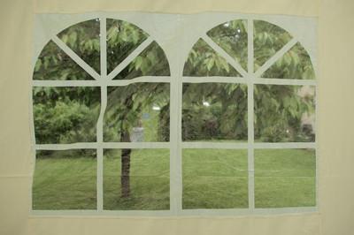 Pavillon Partyzelt 6 x 4,4 x 3,3m wasserdicht creme – Bild 11