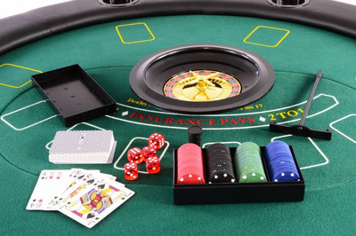 Profi Casino Poker Tisch klappbar – Bild 7