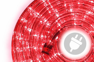 20m LED Lichterschlauch Lichtschlauch rot Lichterkette Energiespar Weihnacht