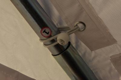 Festzelt PVC Partyzelt Pavillon Raucherzelt 3x4 M weiss rot – Bild 6