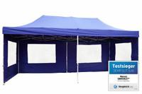 Falt Pavillon 3x6m blau Faltpavillon Seitenteile wasserdichtes Dach 001