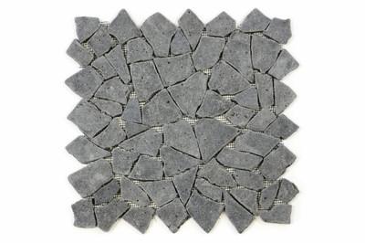 DIVERO 1m² Bruchmosaik aus schwarzem Andesit 28 x 28 cm - 1qm – Bild 1