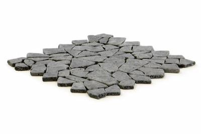 DIVERO 1m² Bruchmosaik aus schwarzem Andesit 28 x 28 cm - 1qm – Bild 2